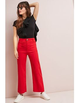 Wide Leg Trousers by Anthropologie