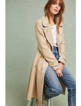 Piped Trench Coat by Ett:Twa