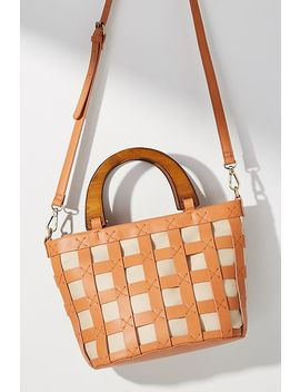 Marina Woven Mini Tote Bag by Anthropologie