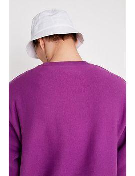 Champion Uo Exclusive Small Script Grape Crew Neck Sweatshirt by Champion