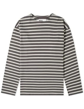 Mhl By Margaret Howell Long Sleeve Matelot Stripe Tee by End.
