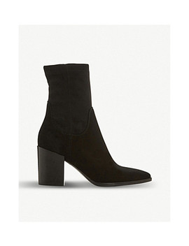 Padock Suede Sock Ankle Boots by Dune Black