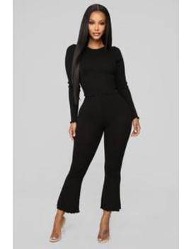 Elaine Ribbed Flare Leggings   Black by Fashion Nova