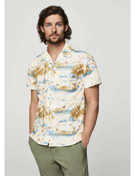 Chemise Regular Fit En Imprimé Tropical by Mango