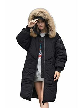 You.U Holiday Deals Trench Look Women Water Resistent Coat With Faux Fur Hood Trim by You.U