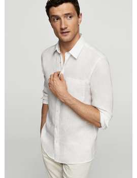 Chemise Slim Fit 100  Percents Lin by Mango