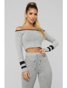 Be A Good Sport Pant Set   Grey/Black by Fashion Nova