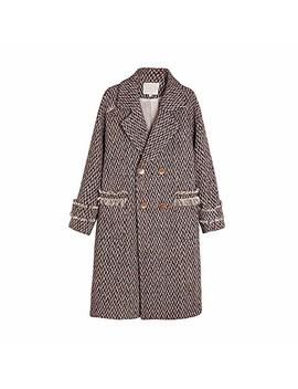 Vezad Womens Winter Lapel Slim Coat Trench Jacket Long Parka Overcoat Outwear by Vezad