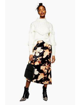 Tie Dye Satin Bias Midi Skirt by Topshop