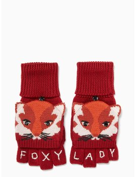 Foxy Pop Top Mittens by Kate Spade
