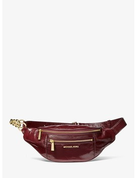 Medium Crinkled Calf Leather Belt Bag by Michael Michael Kors