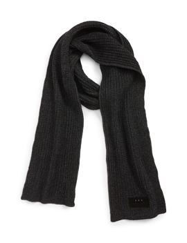 Plated Thermal Knit Merino Wool Scarf by John Varvatos Star Usa