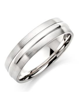 Men's Brushed & Polished Titanium Ring by Beaverbrooks