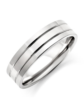 Men's Ridged Titanium Ring by Beaverbrooks