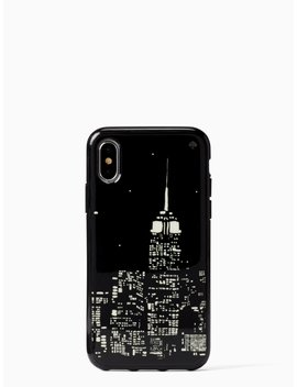 Glow In The Dark Skyline Iphone  X & Xs Case by Kate Spade