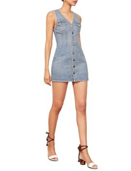 Colby Sleeveless Stretch Denim Minidress by Reformation