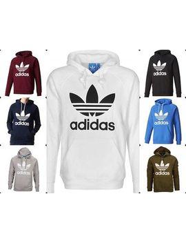 Adidas Trefoil Kapuzenpullove<Wbr>R Hoodie Sweatshirt  Sport Fitness Neu&Ovp S   Xl by Ebay Seller