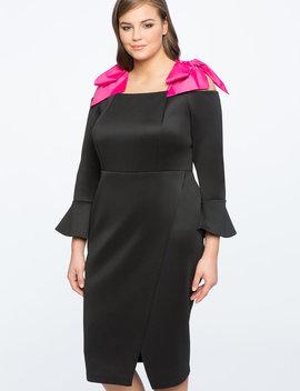 Bow Strap Midi Dress by Eloquii