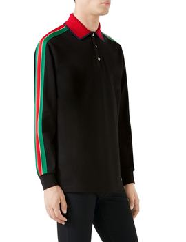 Long Sleeve Polo by Gucci