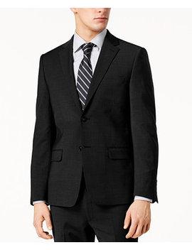 Men's Skinny Fit Infinite Stretch Black Suit Jacket by Calvin Klein