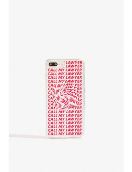 **Call My Lawyer Case   I Phone 6/6 S/7 Plus & 8 Plus By Skinnydip by Topshop