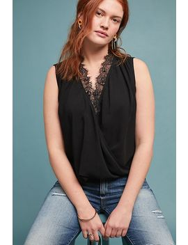 Belia Lace Trimmed Top by Velvet By Graham & Spencer