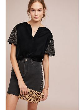 Tibby Beaded Velvet Top by Velvet By Graham & Spencer