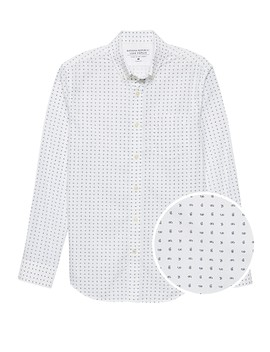 Grant Slim Fit Luxe Poplin Paisley Shirt by Banana Repbulic
