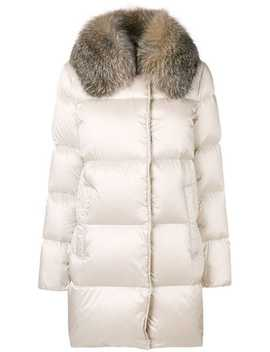 Fur Collared Coat by Moncler