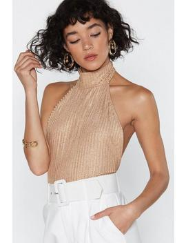 Wanna Come Up Metallic Bodysuit by Nasty Gal