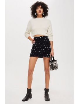 Tall Spotted Corduroy Skirt by Topshop