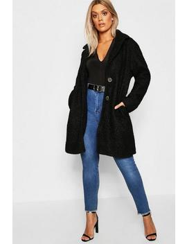 Manteau Teddy Oversize Plus by Boohoo