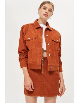 Petite Corduroy Boxy Oversized Denim Jacket by Topshop