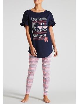 Cosy Nights Slogan Pyjama Set by Matalan