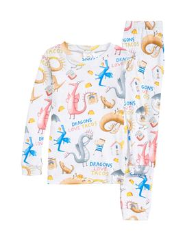 Dragons Love Tacos 2 Fitted Two Piece Pajamas & Book Set by Books To Bed