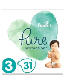 Pampers Pure Protection Size 3, 31 Nappies, 6 10kg by Pampers
