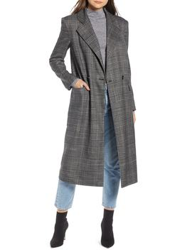 Plaid Topper Coat by Something Navy