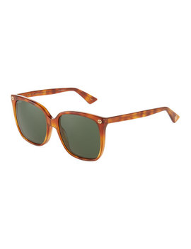 Round Havana Acetate Sunglasses by Gucci