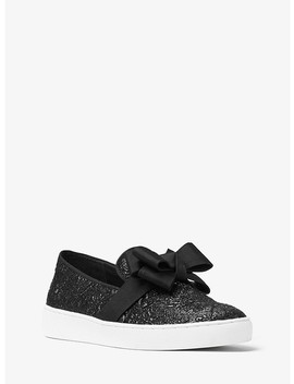 Val Metallic Brocade Slip On Sneaker by Michael Kors Collection