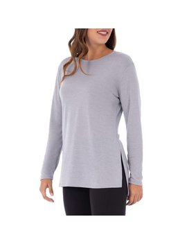 Women's Active Long Sleeve Tunic Length Yoga Top by Athletic Works