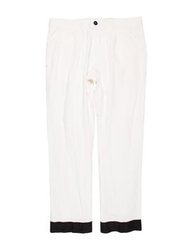 Cropped Linen Pants by Ann Demeulemeester
