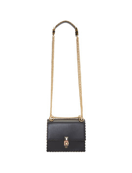 Black Small Scalloped 'kan I' Bag by Fendi