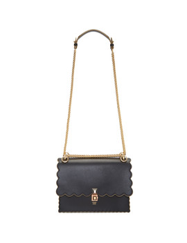 Black Medium Scalloped 'kan I' Bag by Fendi