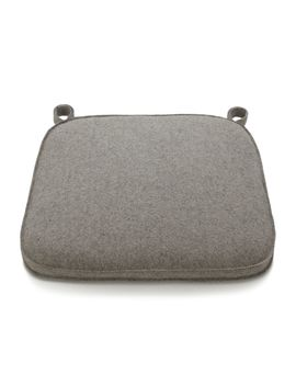 Delta Felt Grey Chair Bar Stool Cushion by Crate&Barrel