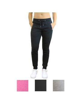 Womens Tech Joggers With Side Zipper Pockets by American Diva