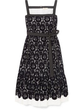Kristen Flocked Lace And Cotton Dress by Tory Burch