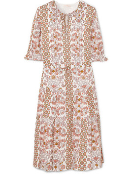 Serena Printed Silk Dress by Tory Burch