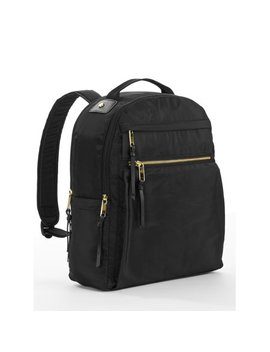 Black Nylon Computer Backpack by Time And Tru