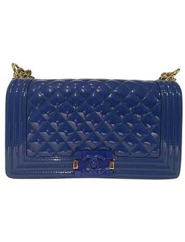 Boy Blue Patent Leather Shoulder Bag by Chanel