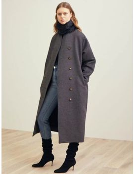 Totême, Toteme Bergerac Coat Grey Or Black Sizes Xs, S, M by Totême
